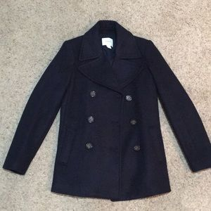 NWOT Soft-brushed Old Navy Wool Peacoat in Navy